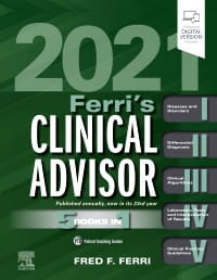Ferri's Clinical Advisor 2021, 1st Edition 5 Books in 1