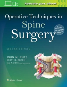 Operative Techniques in Spine Surgery, 2e